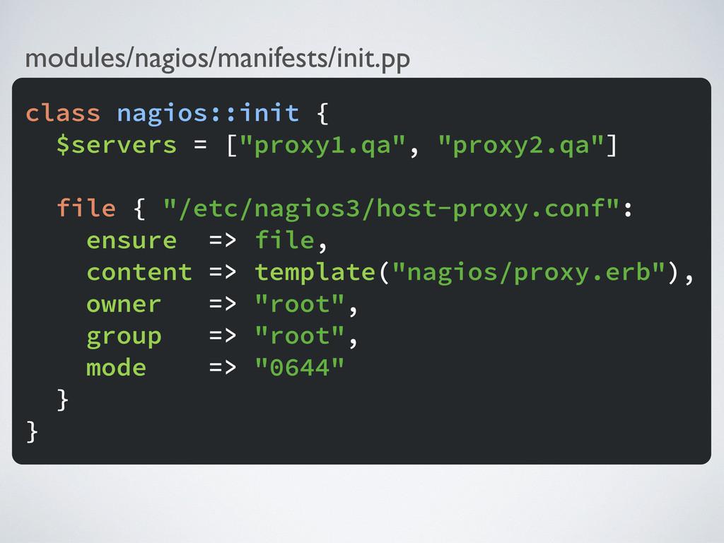 modules/nagios/manifests/init.pp class nagios::...