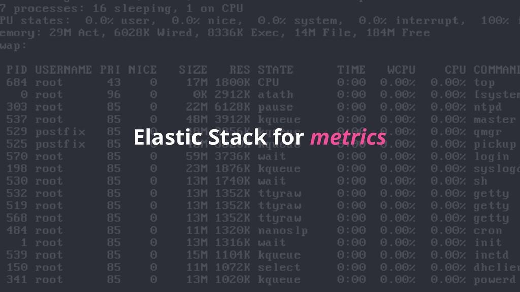Elastic Stack for metrics