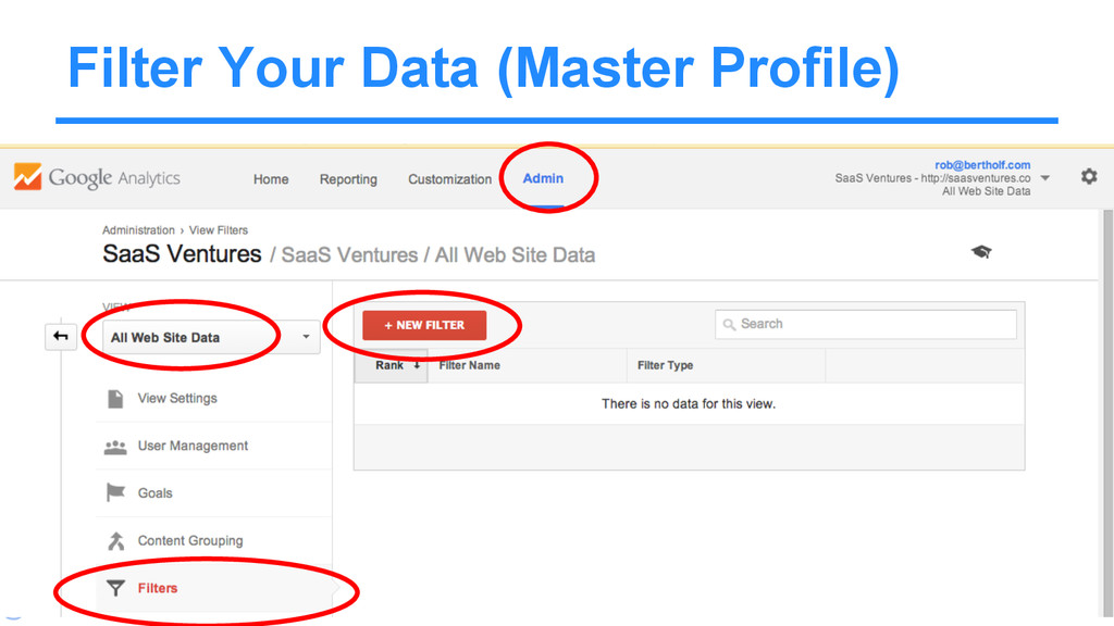 @Rob Bertholf Filter Your Data (Master Profile)