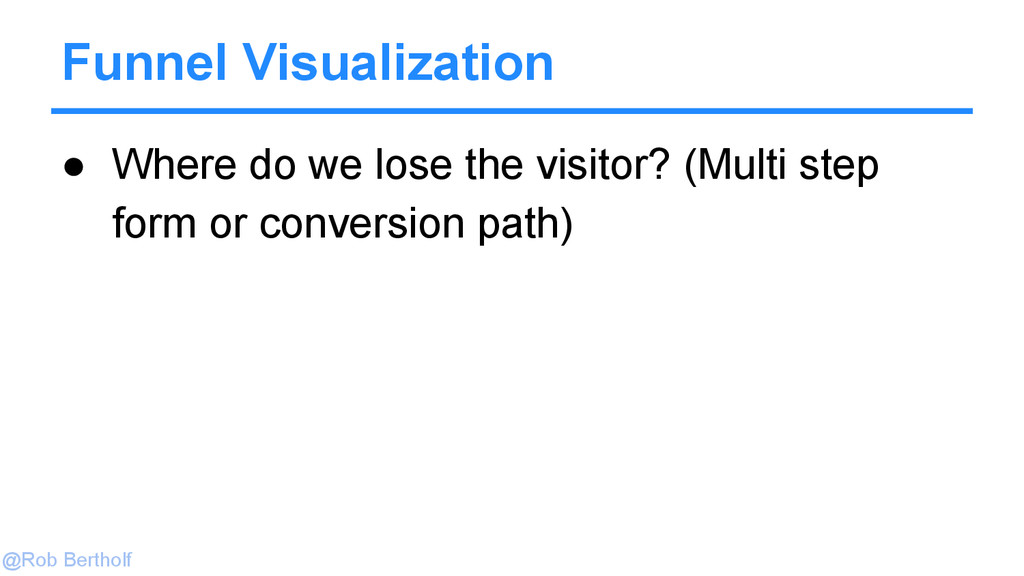 @Rob Bertholf Funnel Visualization ● Where do w...