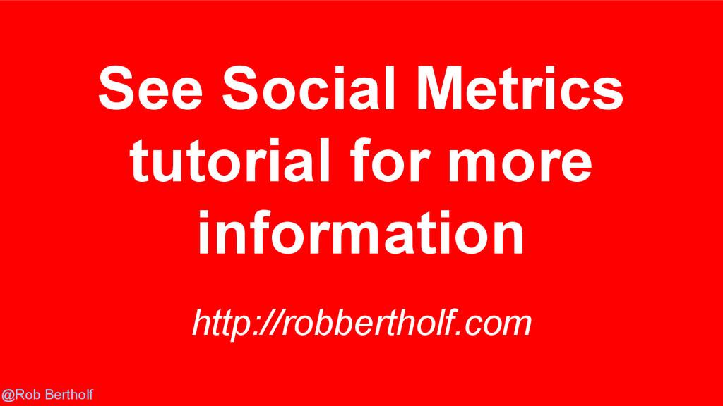 @Rob Bertholf http://robbertholf.com See Social...