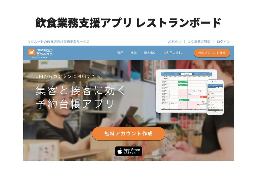 飲食業務支援アプリ レストランボード 飲食業務支援アプリ レストランボード