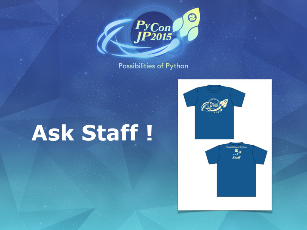 Ask Staff !