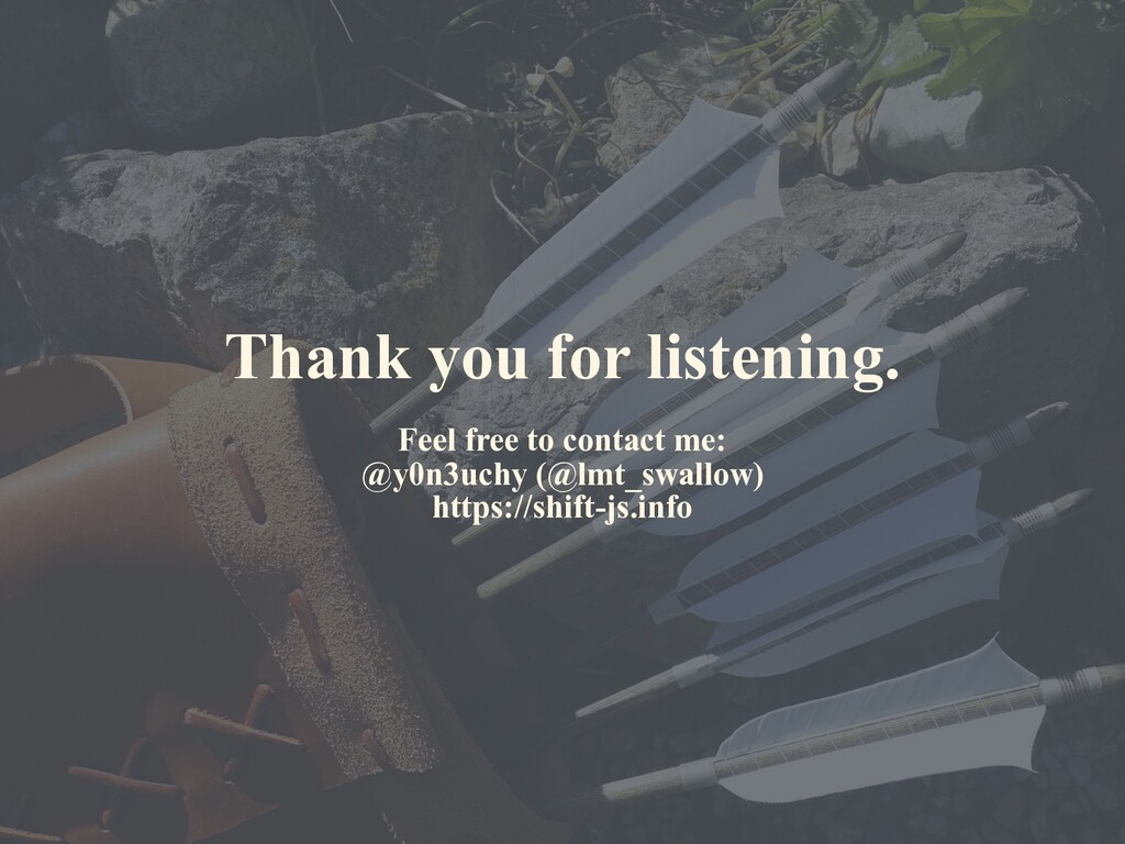 Thank you for listening. Feel free to contact m...