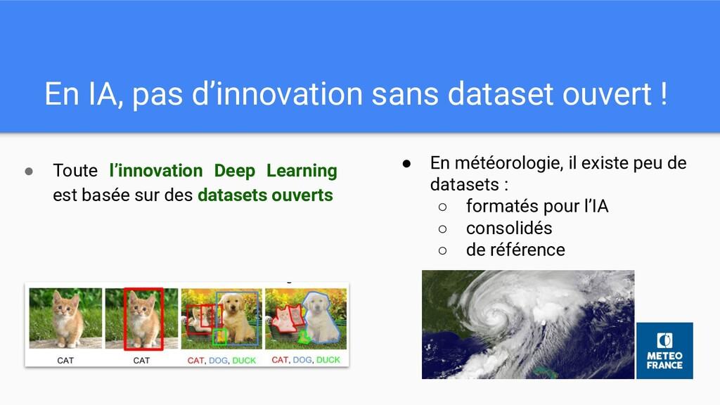 En IA, pas d'innovation sans dataset ouvert ! ●...