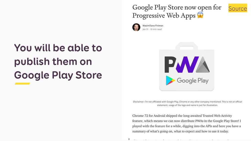 You will be able to publish them on Google Play...