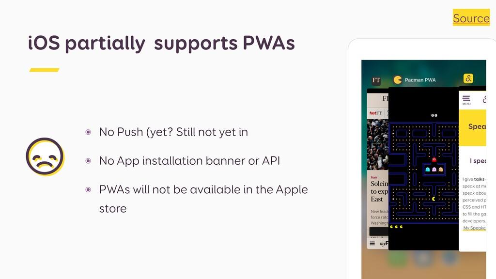 ๏ No Push (yet? Still not yet in ๏ No App insta...