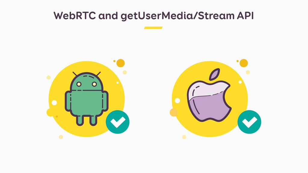WebRTC and getUserMedia/Stream API