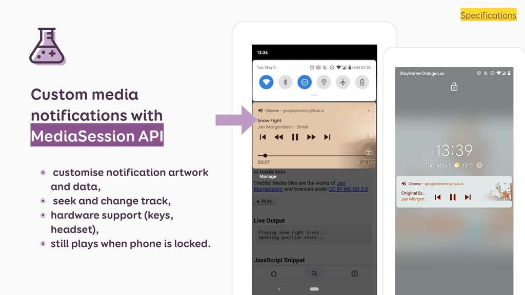 Custom media notifications with MediaSession AP...