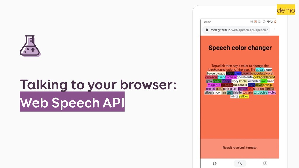 Talking to your browser: Web Speech API demo