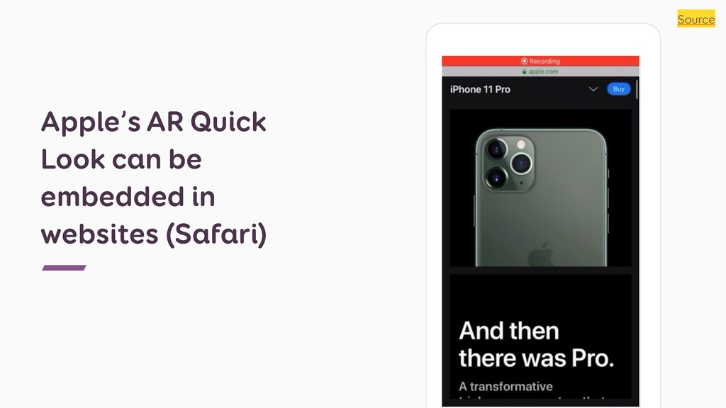 Apple's AR Quick Look can be embedded in websit...