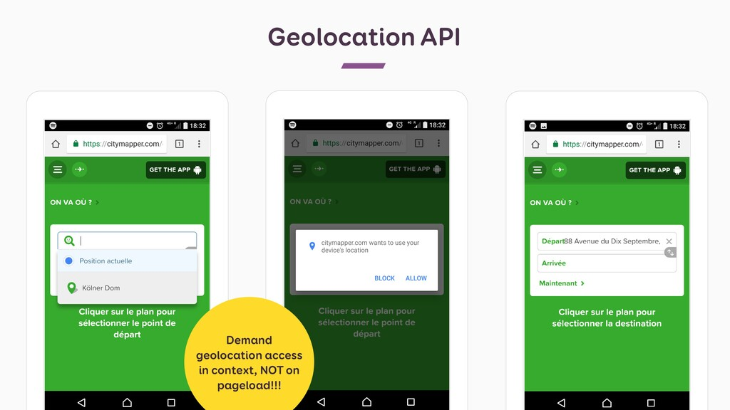 Geolocation API Demand geolocation access in co...