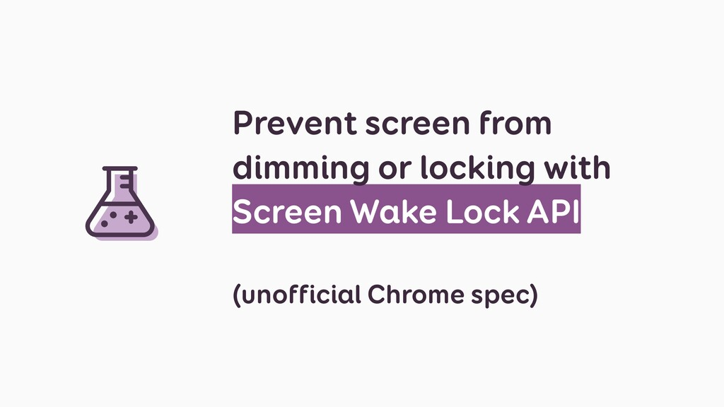 Prevent screen from dimming or locking with Scr...