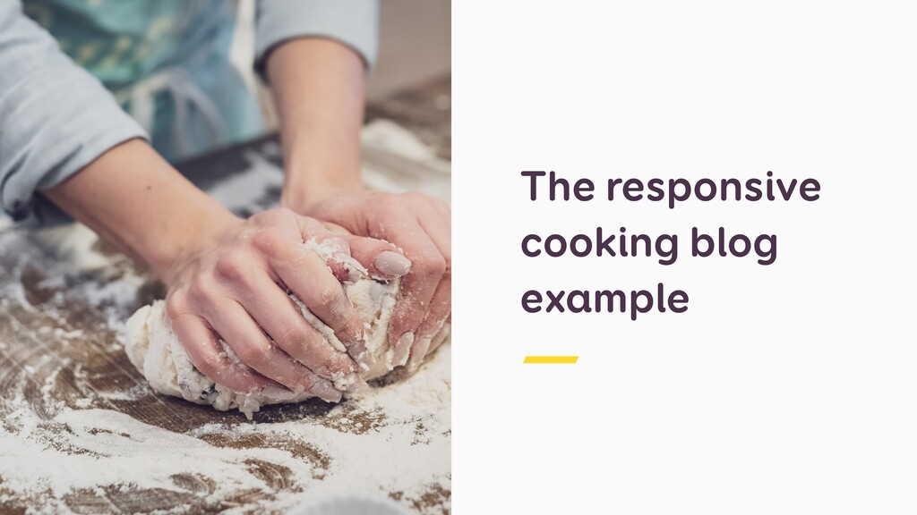 The responsive cooking blog example