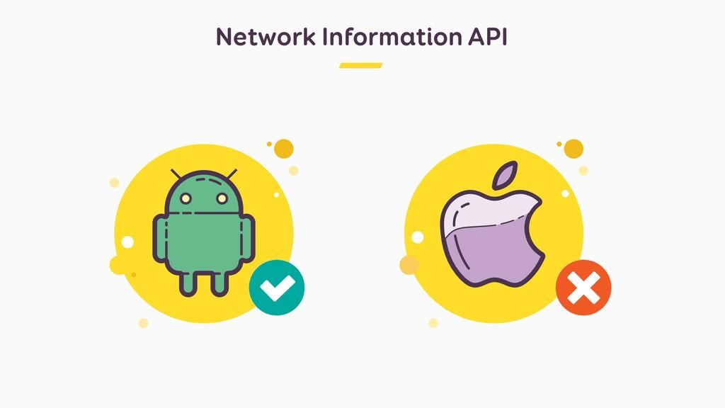 Network Information API