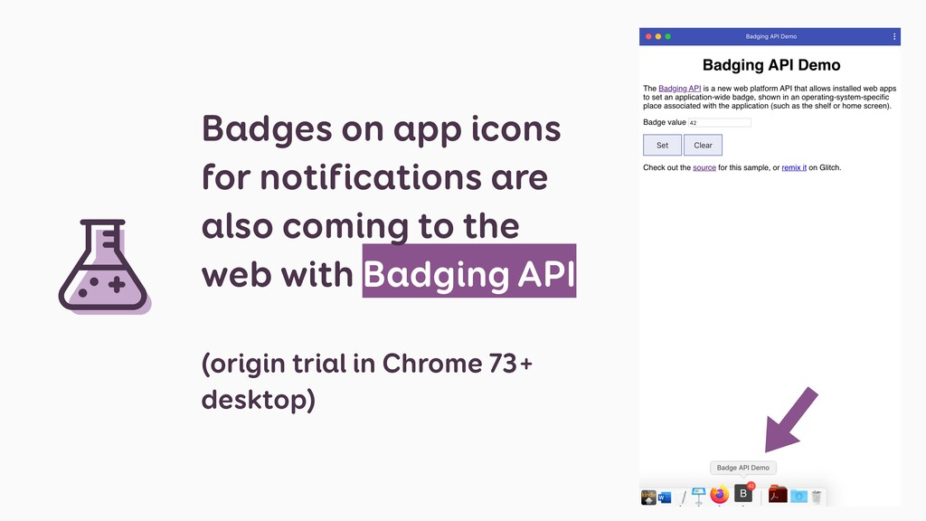 Badges on app icons for notifications are also ...