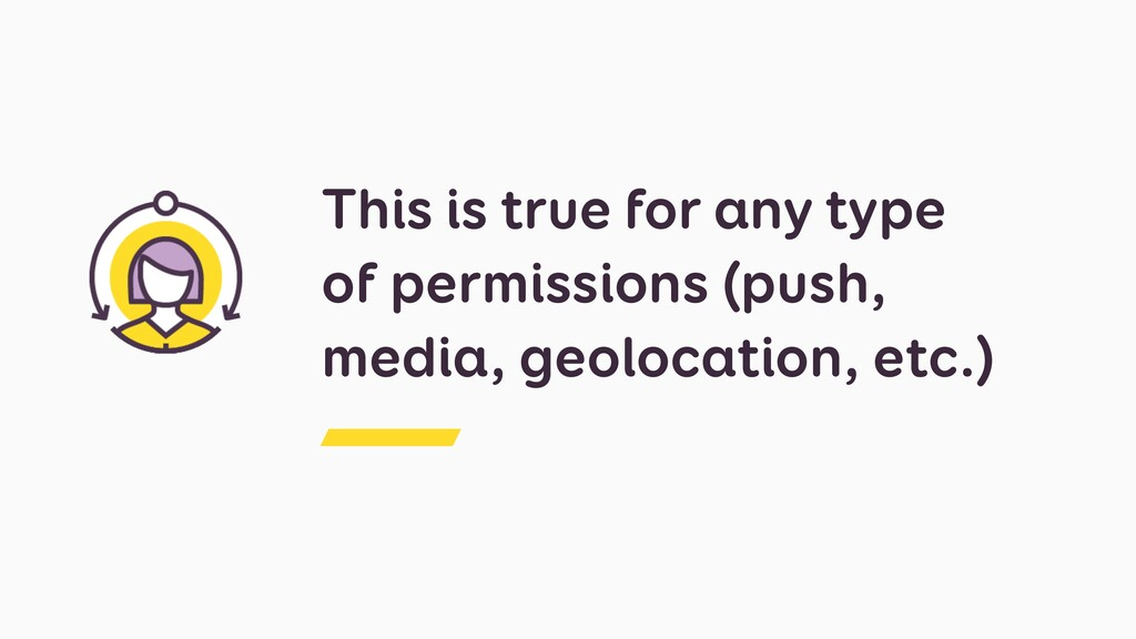 This is true for any type of permissions (push,...