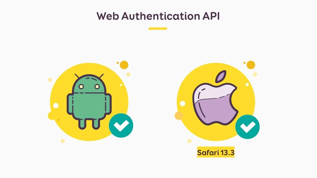 Web Authentication API Safari 13.3