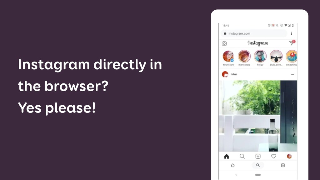 Instagram directly in the browser? Yes please!