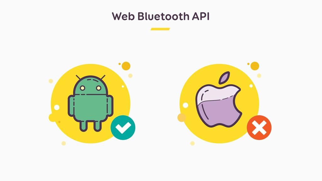 Web Bluetooth API