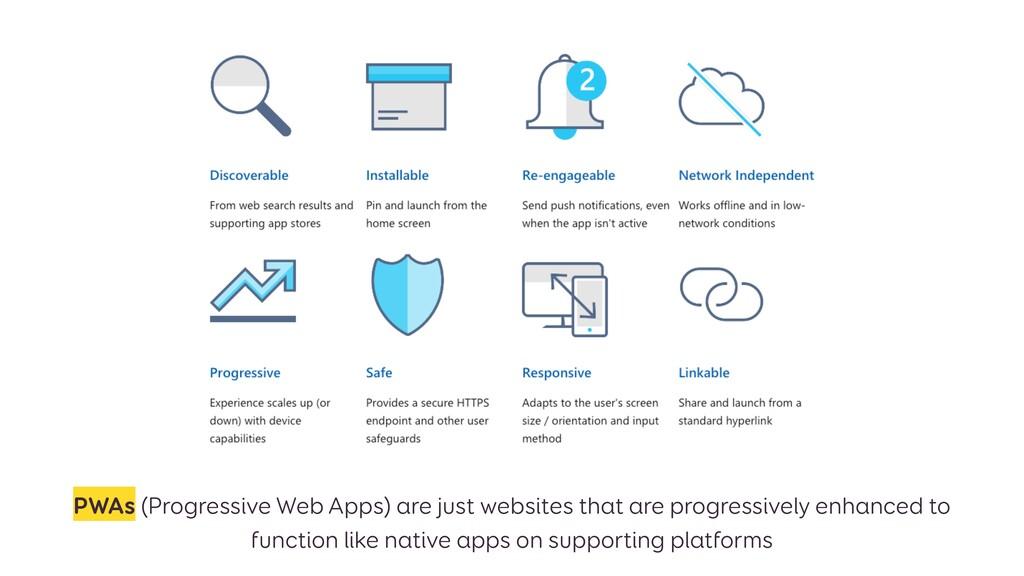 PWAs (Progressive Web Apps) are just websites t...