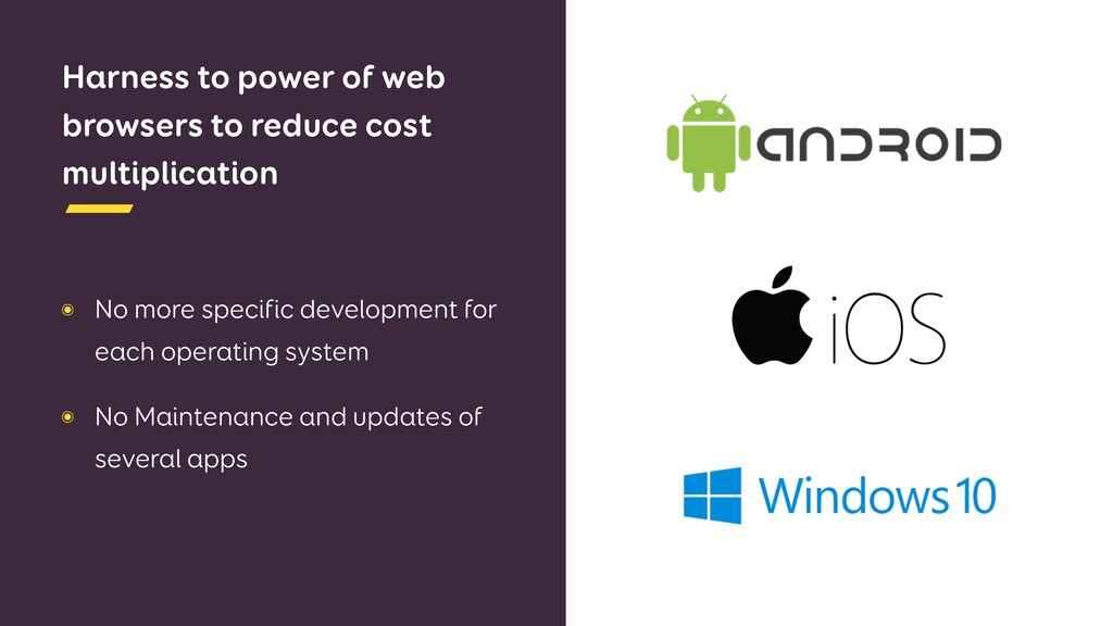 Harness to power of web browsers to reduce cost...