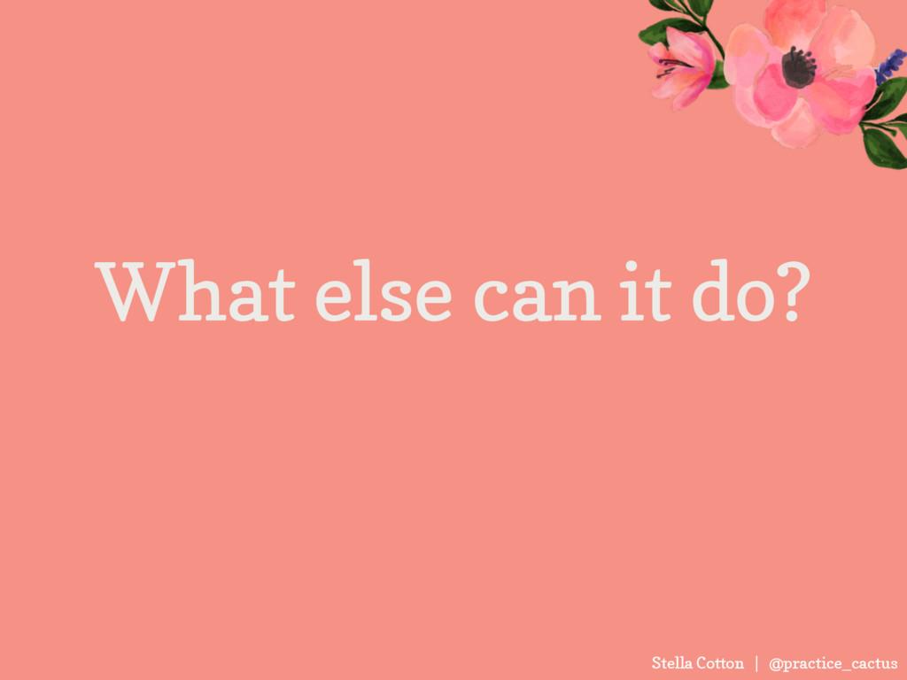 Stella Cotton | @practice_cactus What else can ...
