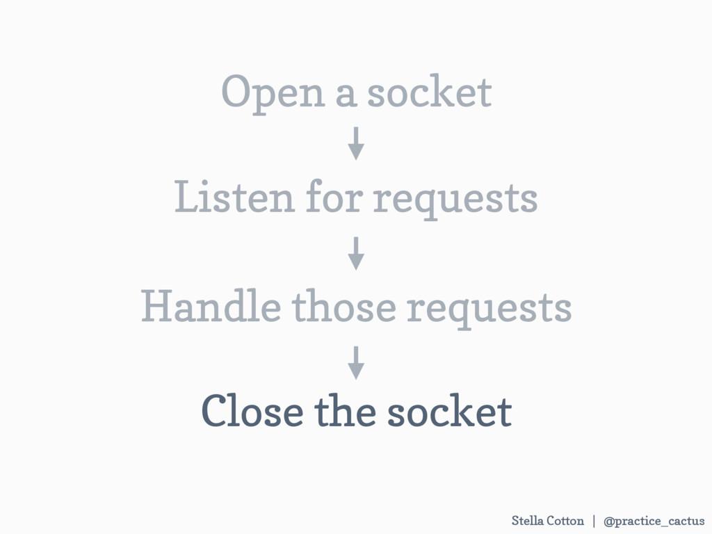 Stella Cotton | @practice_cactus Open a socket ...