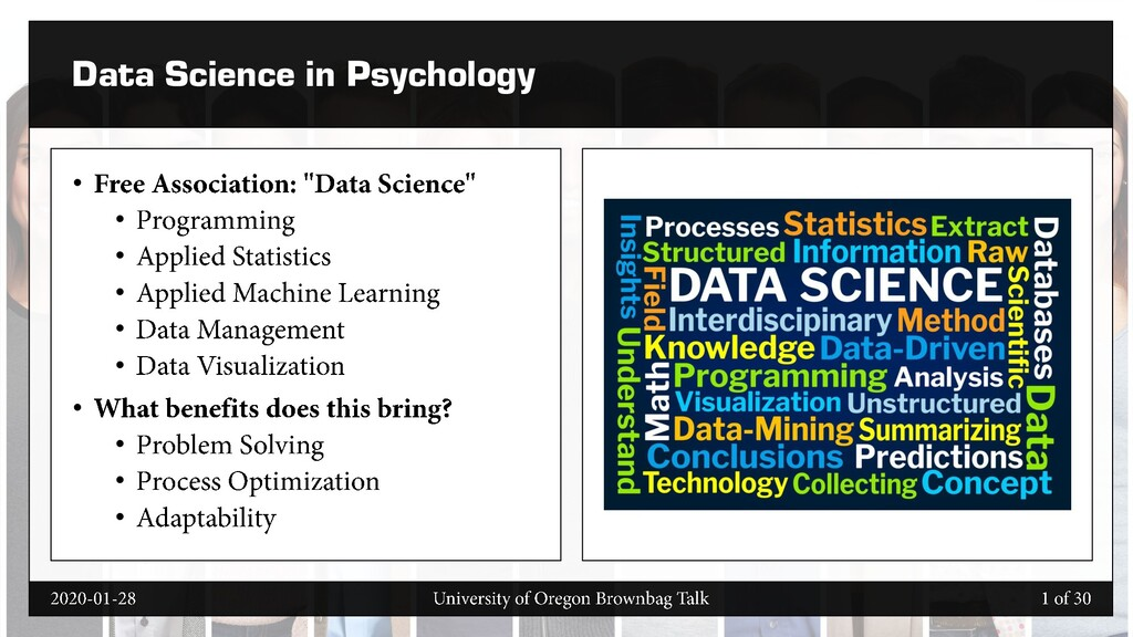 Data Science in Psychology • • • • • • • • • •