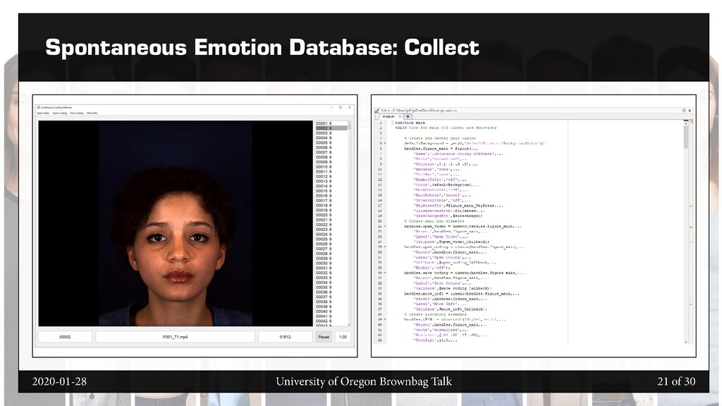 Spontaneous Emotion Database: Collect