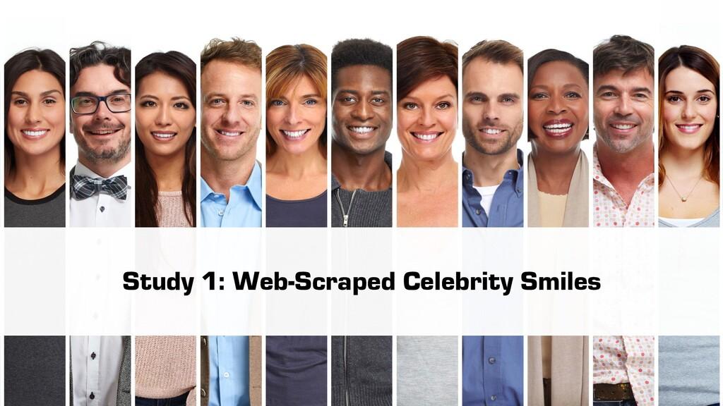 Study 1: Web-Scraped Celebrity Smiles