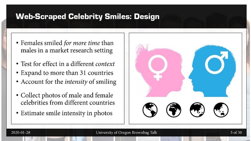 Web-Scraped Celebrity Smiles: Design • • • • • •