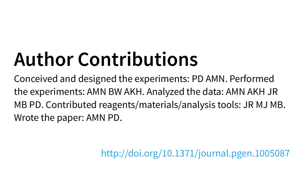 Author Contributions Conceived and designed the...