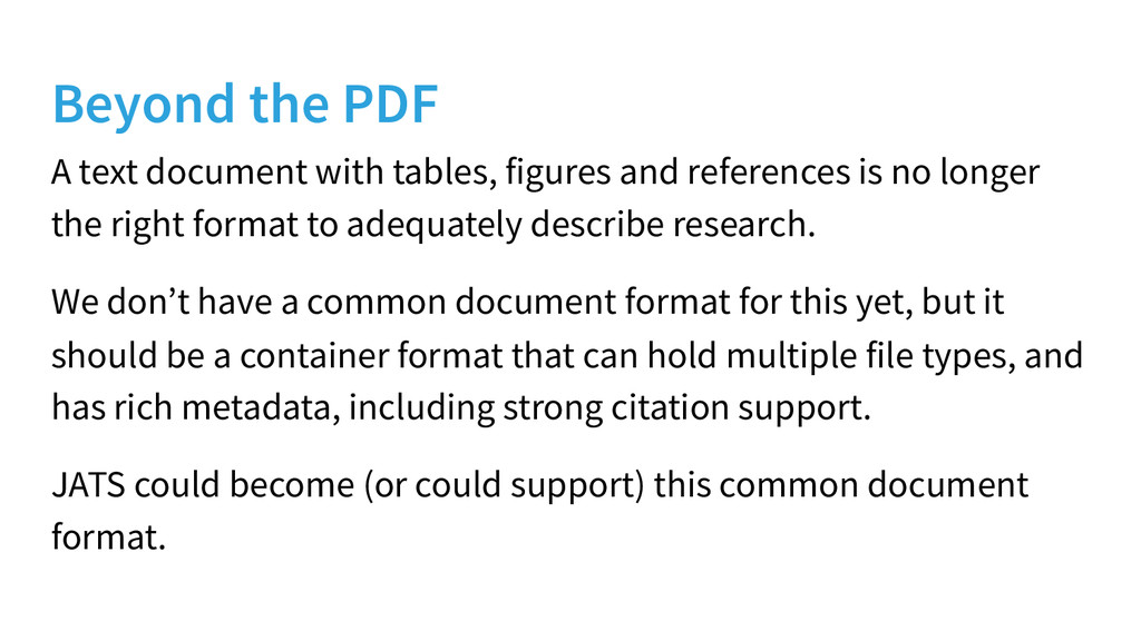 Beyond the PDF A text document with tables, fig...
