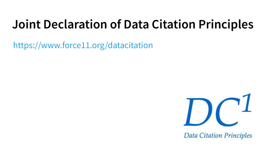 Joint Declaration of Data Citation Principles h...