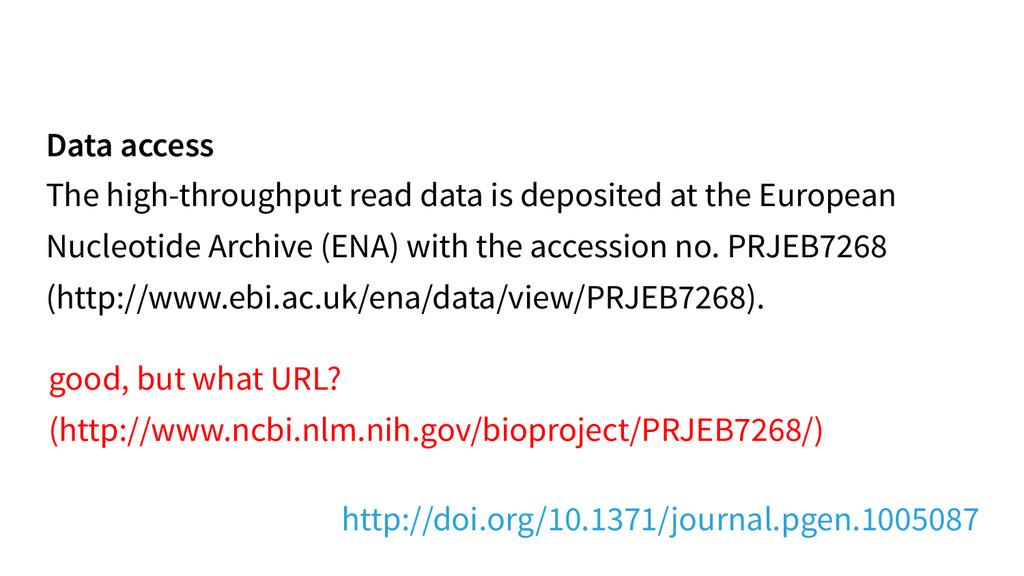 Data access The high-throughput read data is de...
