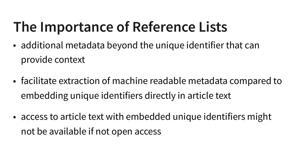 The Importance of Reference Lists • additional ...