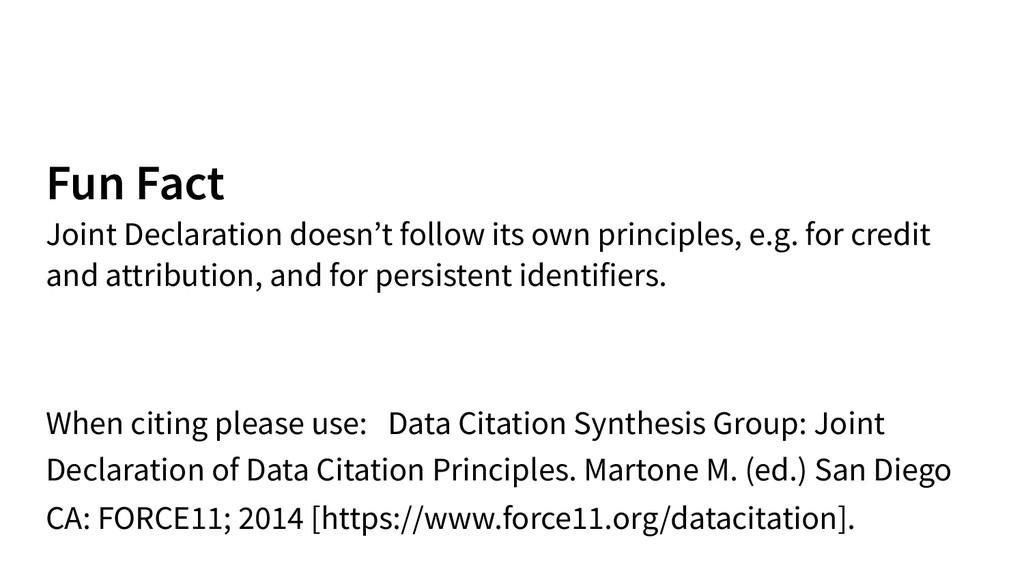 Fun Fact Joint Declaration doesn't follow its ...