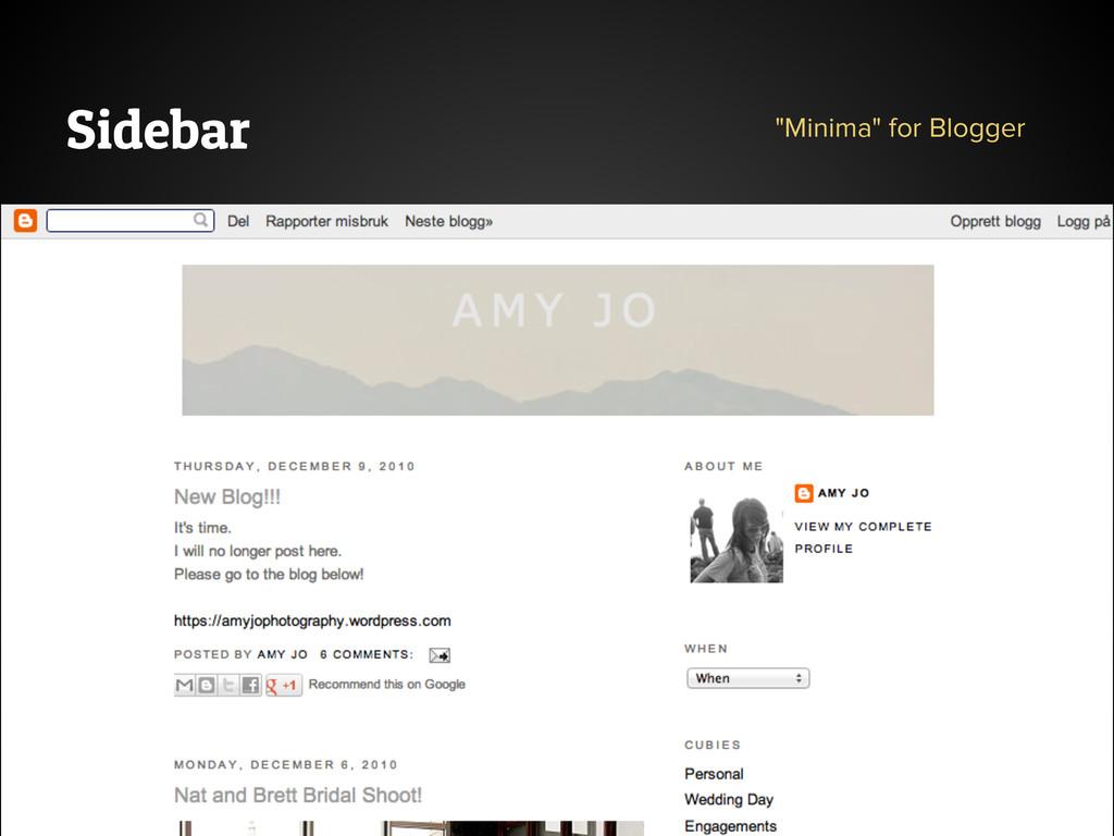 "Sidebar ""Minima"" for Blogger"