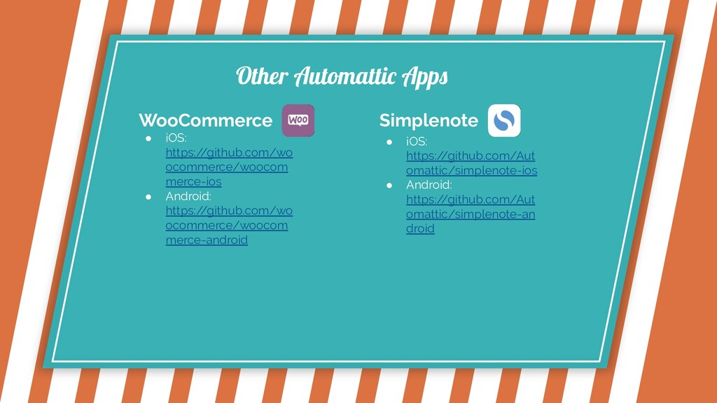 Other Automattic Apps WooCommerce ● iOS: https:...