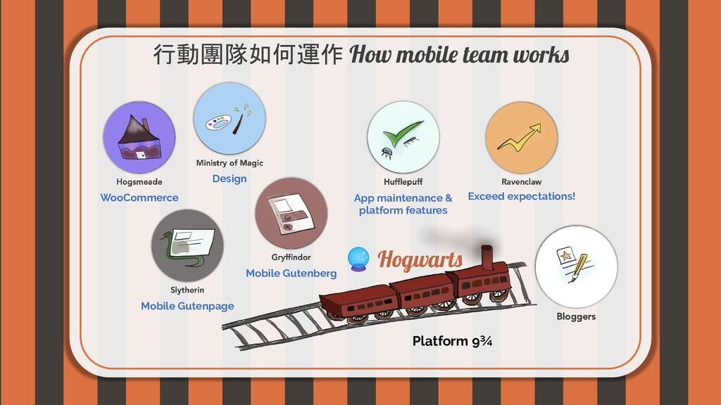 行動團隊如何運作 How mobile team works Platform 9¾ Exce...