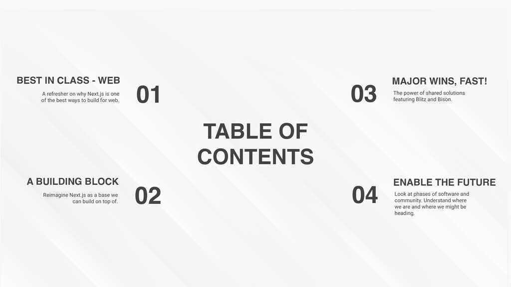 TABLE O F   CONTENTS BEST IN CLASS - WEB 01 A r...