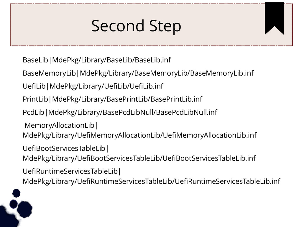 Second Step BaseLib|MdePkg/Library/BaseLib/Base...