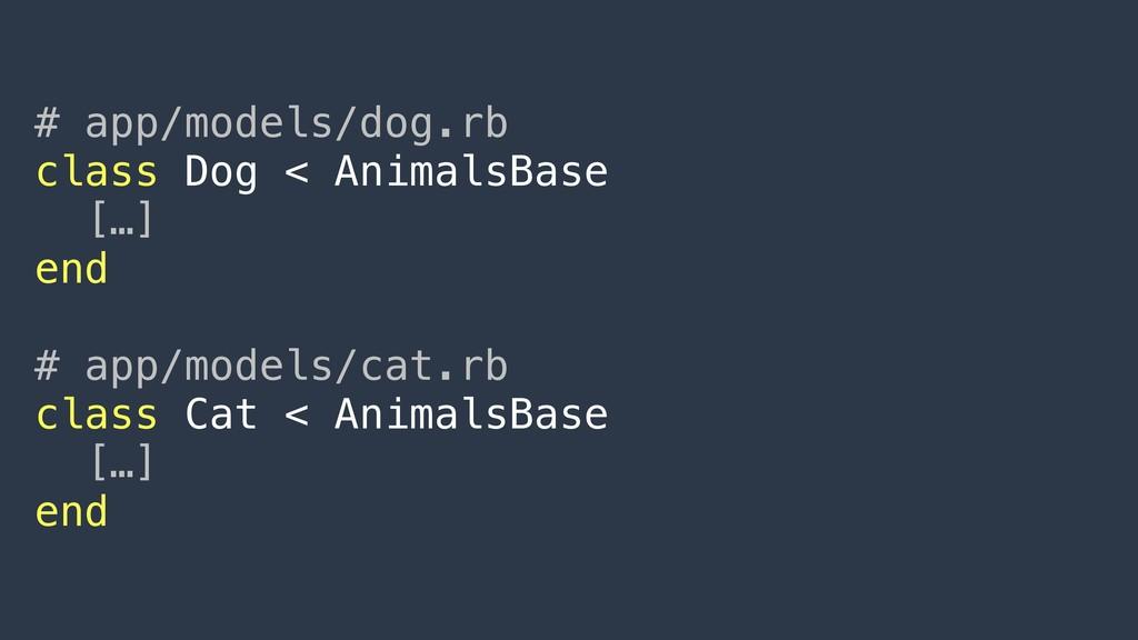 # app/models/dog.rb class Dog < AnimalsBase […]...