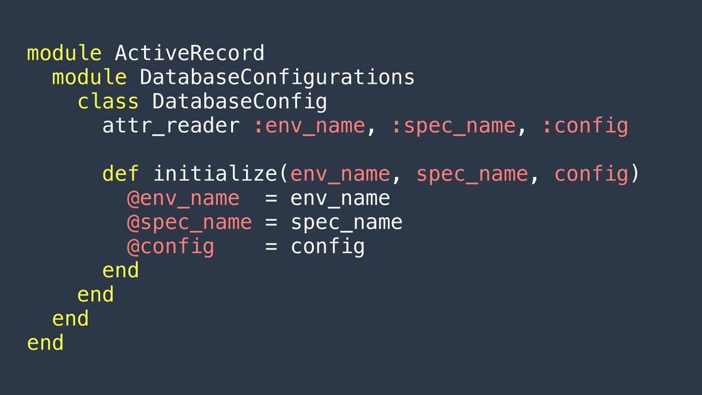module ActiveRecord module DatabaseConfiguratio...