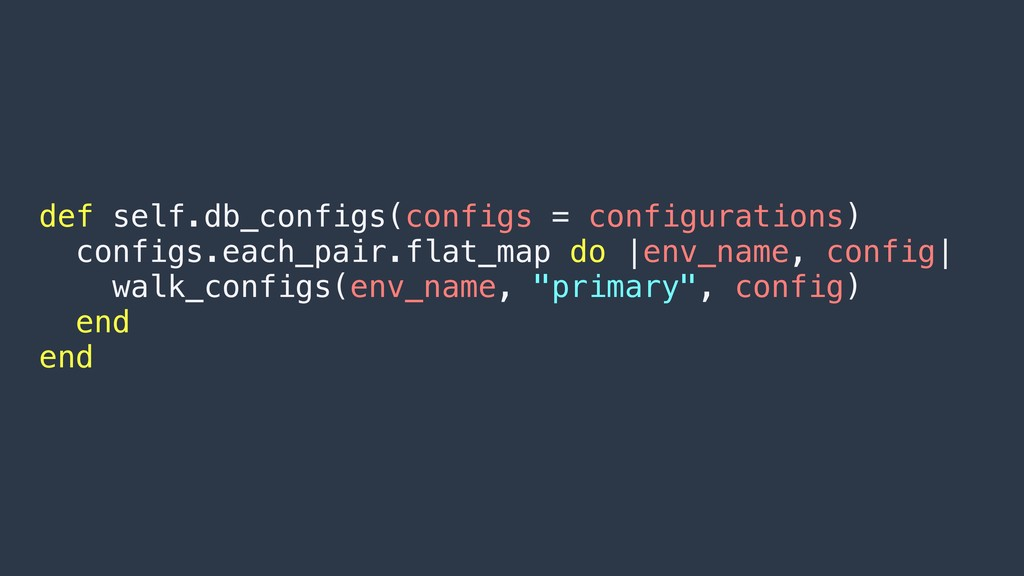 def self.db_configs(configs = configurations) c...