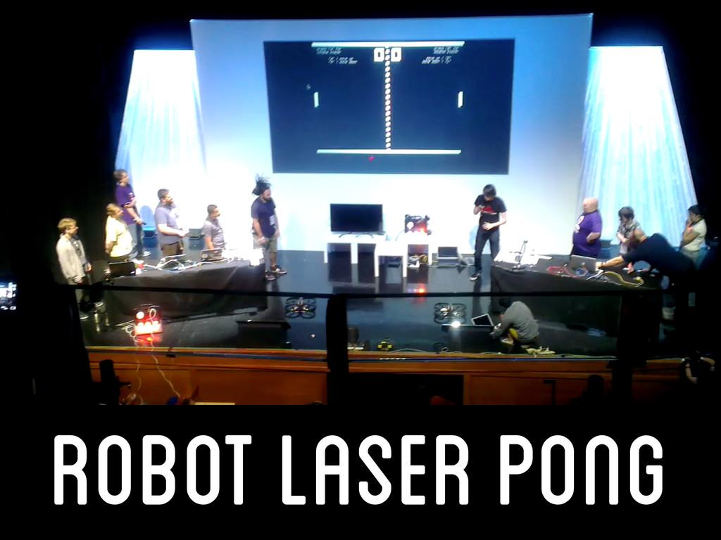 robot laser pong