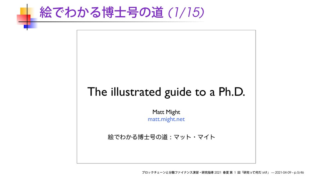 (1/15) The illustrated guide to a Ph.D. Matt Mi...