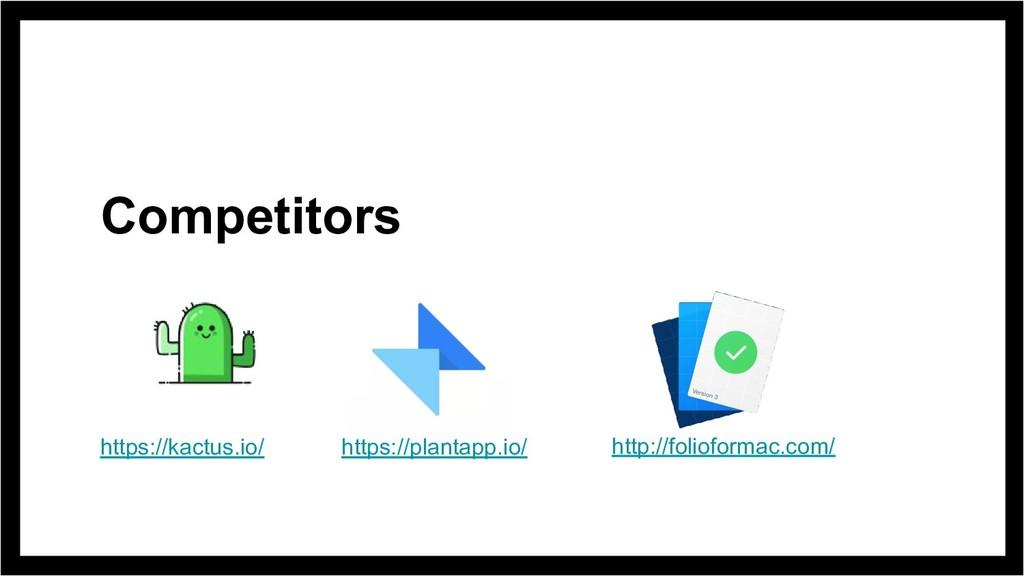 Competitors https://kactus.io/ https://plantapp...
