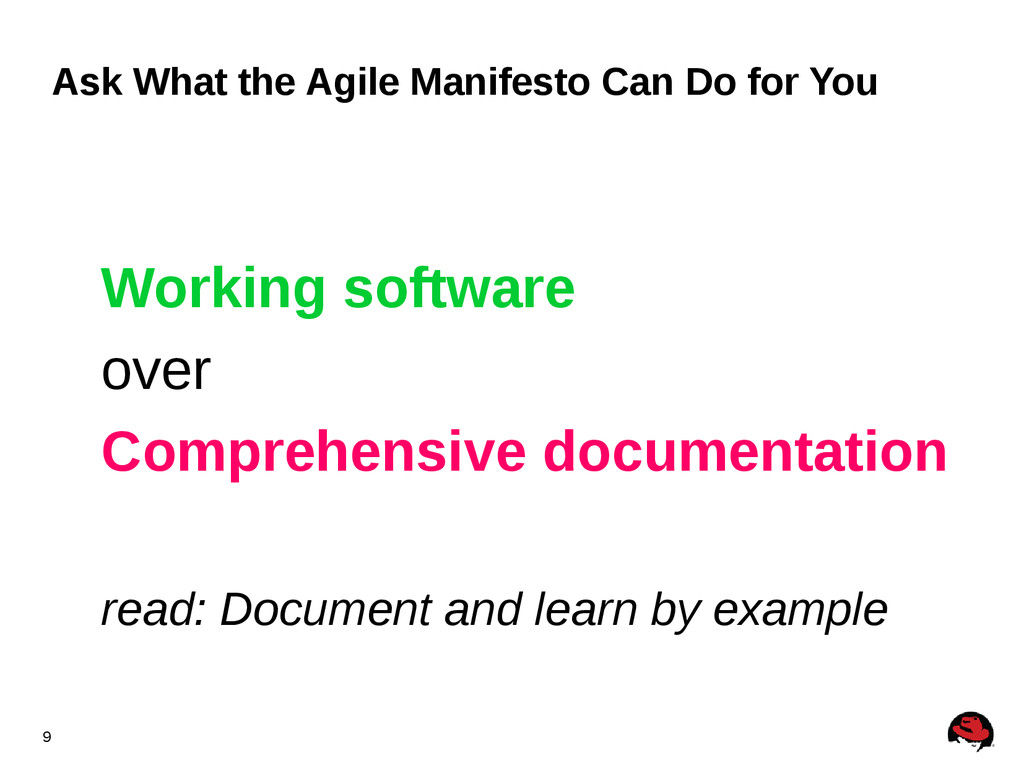 9 Ask What the Agile Manifesto Can Do for You W...